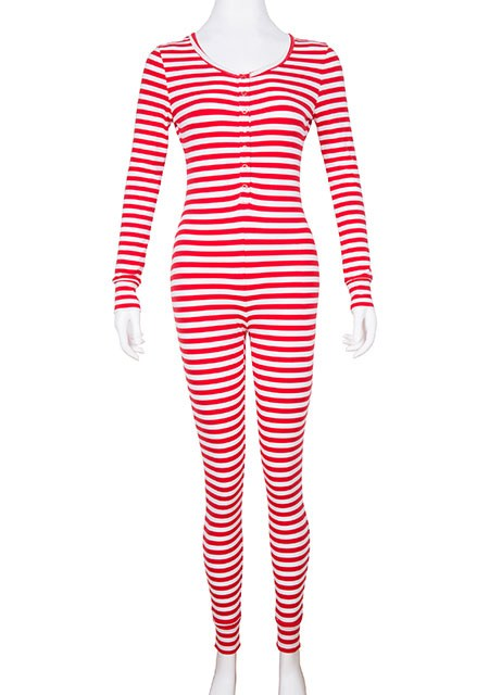 Wholesale Long Sleeve Cotton Red Striped Button Down Women ...